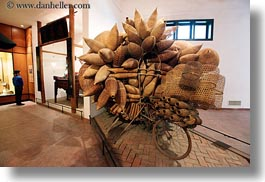 asia, baskets, bicycles, hanoi, horizontal, museums, vietnam, wicker, woods, photograph