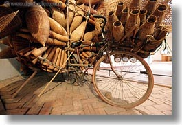 asia, baskets, bicycles, hanoi, horizontal, museums, slow exposure, vietnam, wicker, woods, photograph