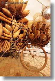 asia, baskets, bicycles, hanoi, museums, slow exposure, vertical, vietnam, wicker, woods, photograph