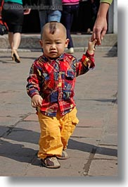 asia, boys, childrens, hanoi, mohawk, people, toddlers, vertical, vietnam, photograph