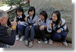 asia, girs, hanoi, horizontal, ice cream, people, teenage, vietnam, womens, photograph