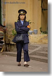 asia, hanoi, people, uniforms, vertical, vietnam, womens, photograph