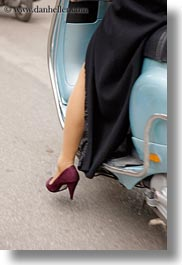 asia, hanoi, legs, motorcycles, people, shoes, vertical, vietnam, womens, photograph