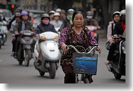 asia, hanoi, horizontal, motorcycles, people, vietnam, womens, photograph