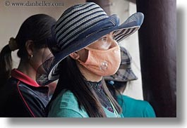 asia, faces, hanoi, horizontal, masks, people, vietnam, womens, photograph