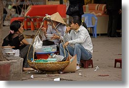 asia, eating, hanoi, horizontal, people, vietnam, womens, photograph