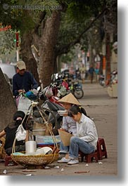 asia, eating, hanoi, people, vertical, vietnam, womens, photograph