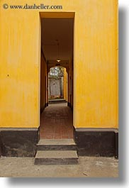 asia, doorways, hanoi, narrow, prison, vertical, vietnam, photograph