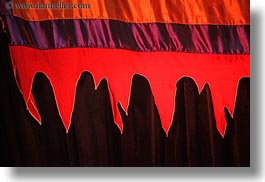 asia, fabrics, hanoi, horizontal, puppet theater, red, vietnam, photograph