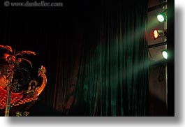 asia, dragons, hanoi, horizontal, lights, puppet theater, theater, vietnam, photograph
