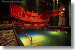 asia, hanoi, horizontal, puppet theater, stage, vietnam, water, photograph