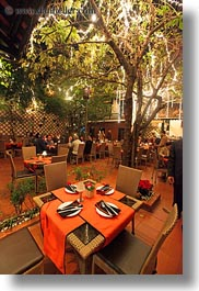 asia, hanoi, restaurants, tables, vertical, vietnam, photograph