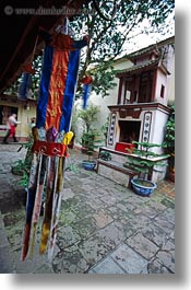 asia, banners, hangings, hanoi, tran quoc pagoda, vertical, vietnam, photograph