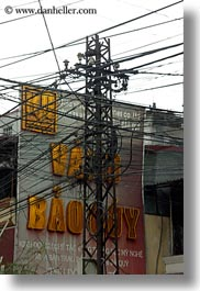 asia, buildings, hanoi, tangled, telephones, vertical, vietnam, wires, photograph