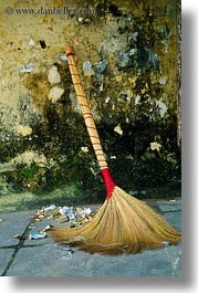 arts, asia, brooms, hoi an, leaning, vertical, vietnam, photograph