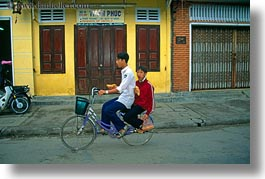 asia, bicycles, bikes, boys, hoi an, horizontal, vietnam, photograph