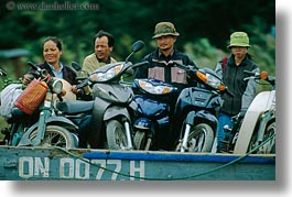 asia, bikes, hoi an, horizontal, men, motorocycles, vietnam, photograph