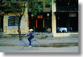 asia, bicycles, big, bikes, blues, boys, hoi an, horizontal, small, vietnam, photograph