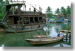 asia, boats, fishing, hoi an, horizontal, vietnam, womens, photograph