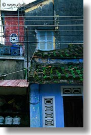 asia, buildings, chaotic, hoi an, vertical, vietnam, photograph
