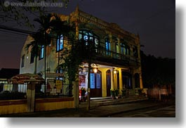 asia, buildings, hoi an, horizontal, houses, long exposure, nite, vietnam, photograph