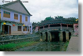 asia, bridge, buildings, hoi an, horizontal, japanese, vietnam, photograph