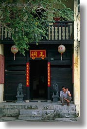 asia, buildings, fancy, hoi an, people, vertical, vietnam, photograph