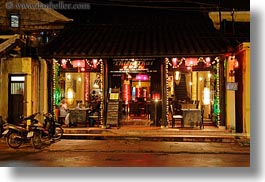asia, buildings, hoi an, horizontal, long exposure, nite, restaurants, vietnam, photograph