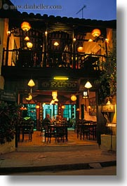asia, buildings, hoi an, nite, restaurants, vertical, vietnam, photograph