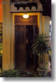 asia, doorways, hoi an, illuminated, vertical, vietnam, photograph