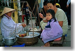 asia, childrens, eating, girls, hoi an, horizontal, people, vietnam, womens, photograph