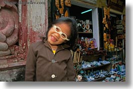 asia, childrens, girls, glasses, hoi an, horizontal, humor, laughing, people, vietnam, photograph