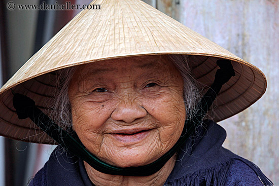 Old Asian Woman And 108