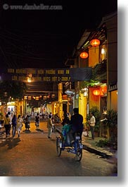 asia, cities, hoi an, nite, streets, vertical, vietnam, photograph