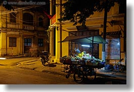 asia, fruits, hoi an, horizontal, nite, slow exposure, stands, streets, vietnam, photograph