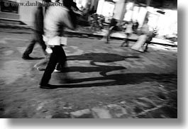 asia, black and white, hoi an, horizontal, long, people, shadows, slow exposure, streets, vietnam, photograph