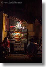 asia, hoi an, nite, softdrink, stands, streets, vertical, vietnam, photograph