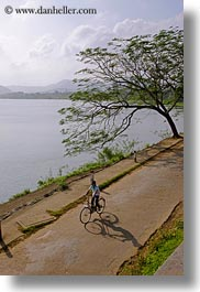 asia, bicycles, bikes, hue, lakes, vertical, vietnam, photograph
