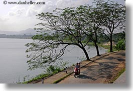 asia, bicycles, bikes, horizontal, hue, lakes, vietnam, photograph