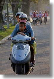 asia, bikes, families, hue, motorcycles, vertical, vietnam, photograph