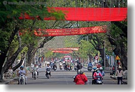 asia, banners, bikes, horizontal, hue, motorcycles, red, vietnam, photograph
