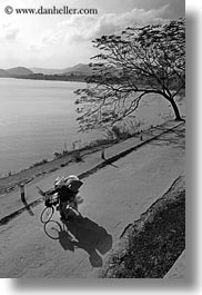 asia, bicycles, bikes, conical, hats, hue, vertical, vietnam, womens, photograph