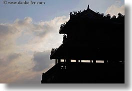asia, citadel, clouds, horizontal, hue, silhouettes, sunsets, vietnam, photograph
