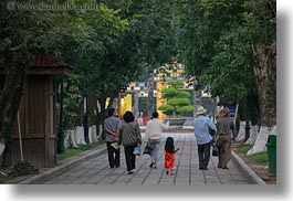 asia, citadel, families, horizontal, hue, trees, tunnel, vietnam, walking, photograph