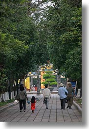 asia, citadel, families, hue, trees, tunnel, vertical, vietnam, walking, photograph