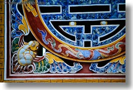 arts, asia, colorful, horizontal, hue, khai dinh, mosaics, ornate, tiles, vietnam, photograph