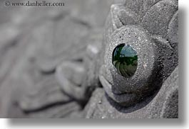 asia, dragons, eyes, green, horizontal, hue, khai dinh, statues, tu duc tomb, vietnam, photograph