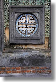 asia, hue, khai dinh, ornate, round, tu duc tomb, vertical, vietnam, windows, photograph