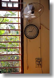 asia, clocks, fans, hue, vertical, vietnam, windows, photograph