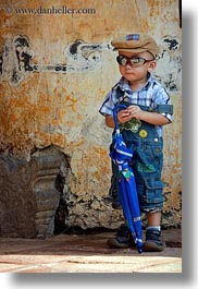 asia, asian, boys, childrens, hue, people, sunglasses, toddlers, umbrellas, vertical, vietnam, photograph